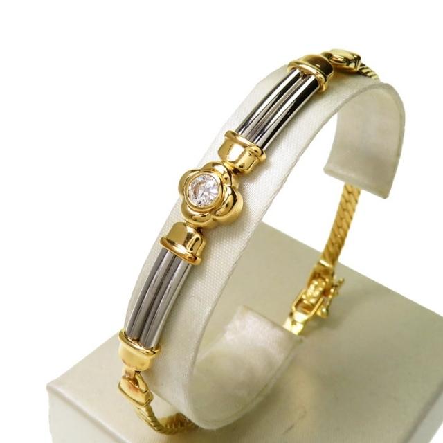 ブレスレット 一粒ジュエリー K18 ダイヤモンド レディースのアクセサリー(ブレスレット/バングル)の商品写真