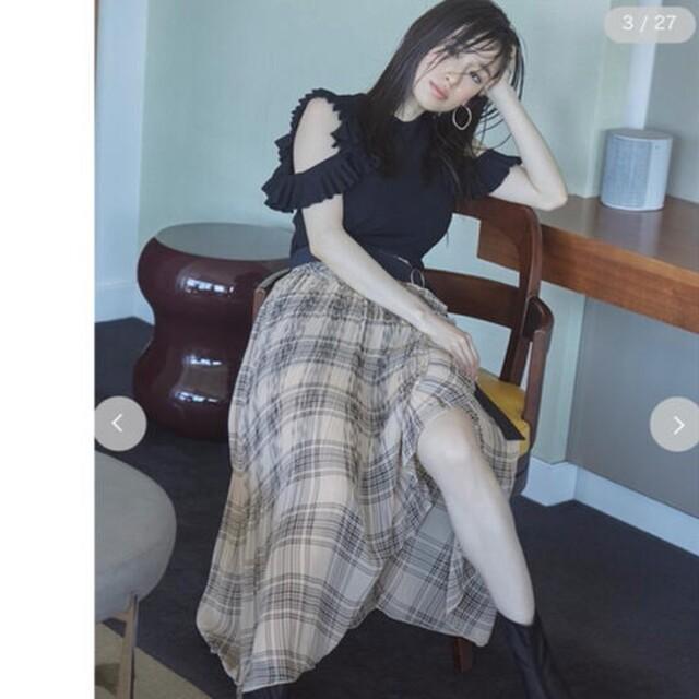 snidel(スナイデル)の新品完売品 SNIDEL スナイデル プリーツスカショーパン レディースのスカート(ロングスカート)の商品写真