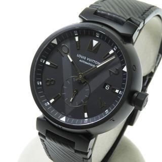 ルイヴィトン(LOUIS VUITTON)のルイ・ヴィトン 腕時計  タンブール オールブラック Q1D22(腕時計(アナログ))