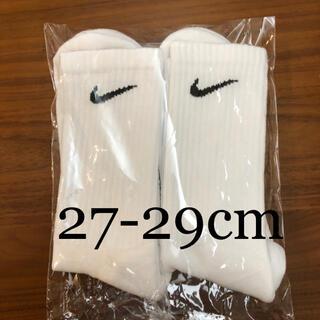 ナイキ(NIKE)の【新品未使用】NIKE  2足組 靴下 ホワイト 27.0cm〜29.0cm(ソックス)