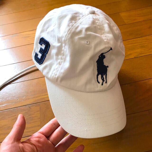 POLO RALPH LAUREN(ポロラルフローレン)のラルフローレン レア キャップ 帽子 ホワイト 白 メンズの帽子(キャップ)の商品写真