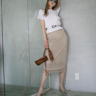 アメリヴィンテージ(Ameri VINTAGE)のアメリ スカート シアー レギンス付き(ひざ丈スカート)