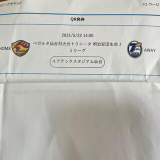 5月22日ベガルタ仙台対大分トリニータ自由席南2枚(サッカー)