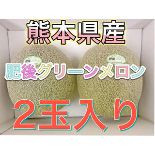 熊本県産肥後グリーンメロン2玉入り(フルーツ)