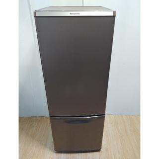 パナソニック(Panasonic)の冷蔵庫 ブラウン 自炊向きサイズ 大きめサイズ スリムタイプ ガラス棚 LED(冷蔵庫)