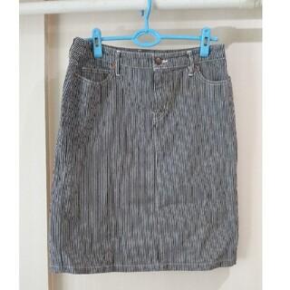 ムジルシリョウヒン(MUJI (無印良品))の無印良品ストライプスカート(ひざ丈スカート)