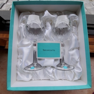 Tiffany & Co. - ティファニー フローレットワイン クリスタルワイングラス