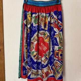 ゴートゥーハリウッド(GO TO HOLLYWOOD)のGOTOHOLLYWOOD/スカーフ柄スカート02/ゴートゥーハリウッド(ひざ丈スカート)