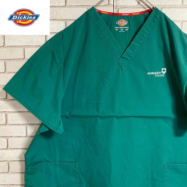 Dickies(ディッキーズ)の90s 古着 ディッキーズ プルオーバーシャツ プリント ビッグシルエット メンズのトップス(シャツ)の商品写真