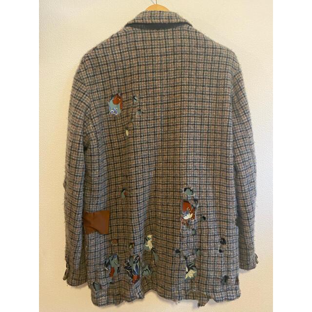 kolor(カラー)のkolor 19AW ダメージ ジャケット メンズのジャケット/アウター(テーラードジャケット)の商品写真
