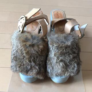 アチャチュムムチャチャ(AHCAHCUM.muchacha)のあちゃちゅむ ファー サンダル 木靴 pameo pose(サンダル)