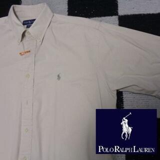 ラルフローレン(Ralph Lauren)の【ラルフローレン】半袖BDシャツ海外Mベージュ(908)ポロBLAIRE(シャツ)