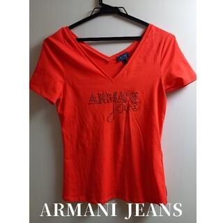 ARMANI JEANS - 【新品未使用】アルマーニジーンズ ARMANIJEANS オレンジ 半袖Tシャツ