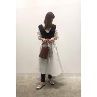 GU - GU ジーユー Aラインシャツワンピース(長袖)