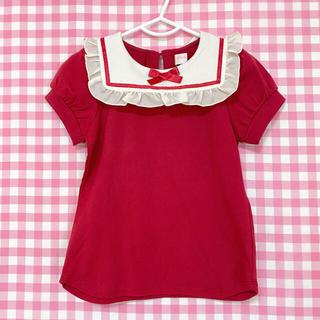 シャーリーテンプル(Shirley Temple)のシャーリーテンプル セーラー衿 カットソー 赤 110(Tシャツ/カットソー)