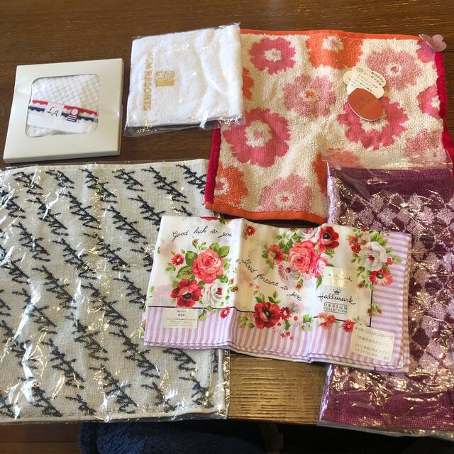 ハンカチ6種類 レディースのファッション小物(ハンカチ)の商品写真