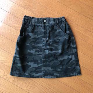 ジーユー(GU)のGU 迷彩柄スカート 140センチ(スカート)