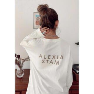 アリシアスタン(ALEXIA STAM)のALEXIA STAM Back Logo Long Sleeve Tee(Tシャツ(長袖/七分))