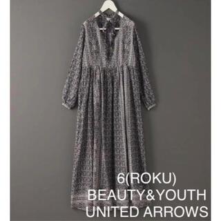 BEAUTY&YOUTH UNITED ARROWS - 6(ROKU)COTTON SILK LONG TIE ONE PIECE 36