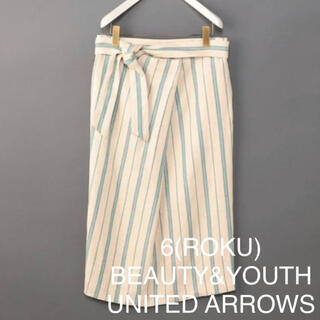 BEAUTY&YOUTH UNITED ARROWS - 6(ROKU) TUCK TIGHT SKIRT 36