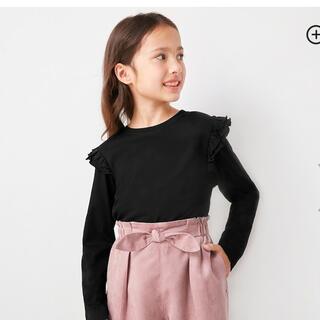 GU - GU GIRLSフリルT(長袖) 120  ブラック