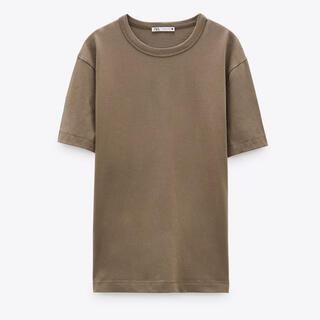 ザラ(ZARA)の新品 ZARA コットンTシャツ(Tシャツ(半袖/袖なし))