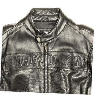 ハーレーダビッドソン(Harley Davidson)のハーレーダビッドソン 革ジャン パンチング メンズL(ライダースジャケット)