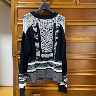 mame - mame kurogouchi 2020SS コントラストセーター size1