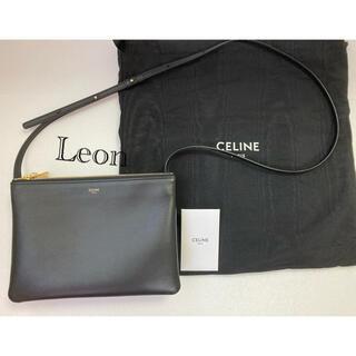 celine - 美品 CELINE セリーヌ トリオ ラージ ブラック