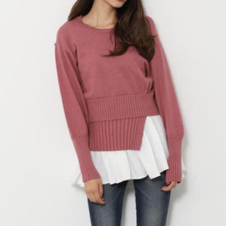 rienda - Shirt Combi Knit TOP