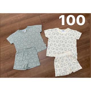 シマムラ(しまむら)のミッフィー セットアップ サイズ100  2セット(Tシャツ/カットソー)