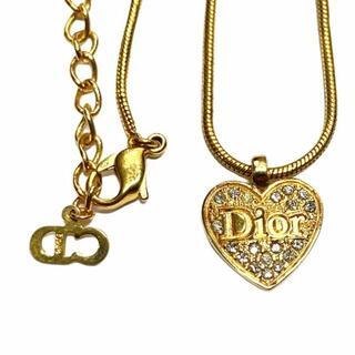 Christian Dior - 305-20)クリスチャンディオール ヴィンテージ ネックレス ゴールド ハート