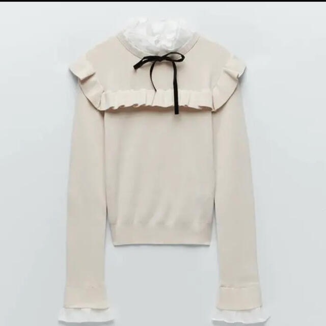 ZARA(ザラ)のzara コントラストセーター レディースのトップス(ニット/セーター)の商品写真