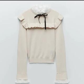 ZARA - zara コントラストセーター