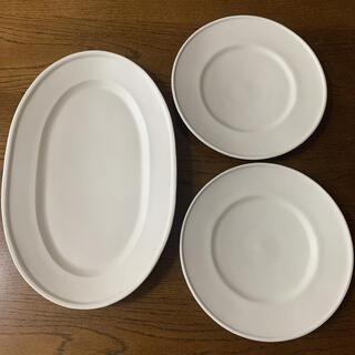 照井壮 デフルトオーバル1枚 デフルト皿2枚 セット(食器)