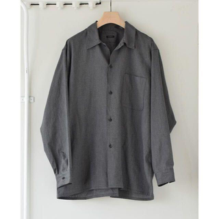 COMOLI - comoli ヨリ杢 オープンカラー シャツ サイズ 2  新品 タグ付き