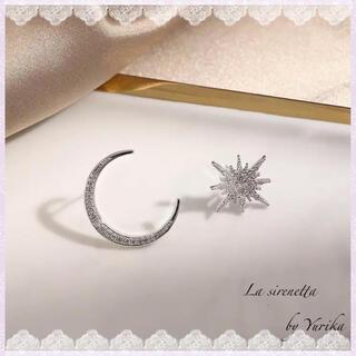 アーカー(AHKAH)のMoon & Star ♡ asymmetry pierce ♡ Silver(ピアス)