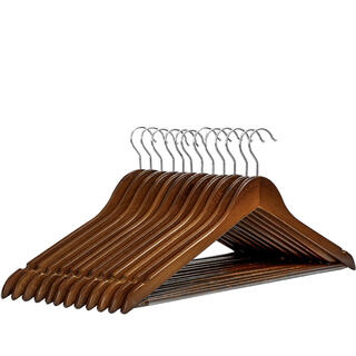 木製ハンガー 10本セット すべらない