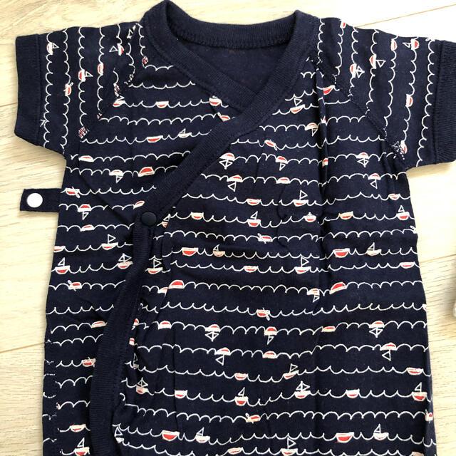 ロンパース 60 セット キッズ/ベビー/マタニティのベビー服(~85cm)(ロンパース)の商品写真