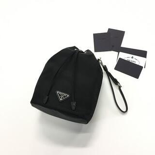プラダ(PRADA)の新品 21-22AW PRADA ナイロン 巾着 ミニ ポーチ バッグ(クラッチバッグ)
