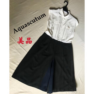 アクアスキュータム(AQUA SCUTUM)のAquascutum オールインワンワンピース M(オールインワン)