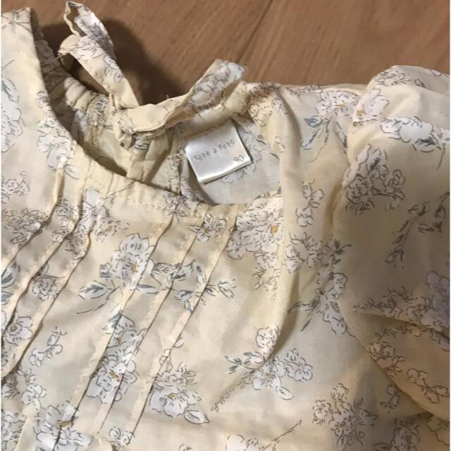 futafuta(フタフタ)のかふぇらて様 テータテート  花柄セットアップ キッズ/ベビー/マタニティのベビー服(~85cm)(シャツ/カットソー)の商品写真