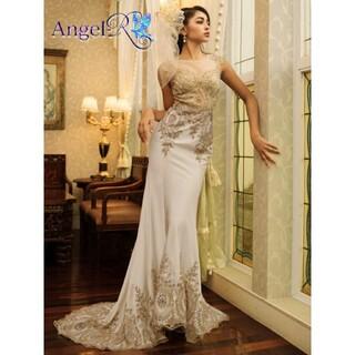AngelR - ゴージャスレース飾りスタンダードマーメイドロングドレス キャバドレス