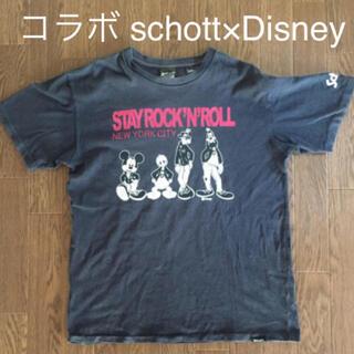 ショット(schott)の【コラボTシャツ】schott×Disney 綿100% Mサイズ 米国製(Tシャツ/カットソー(半袖/袖なし))