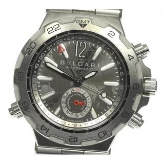 ブルガリ(BVLGARI)のブルガリ ディアゴノ デイト DP42S GMT 自動巻き メンズ 【中古】(腕時計(アナログ))