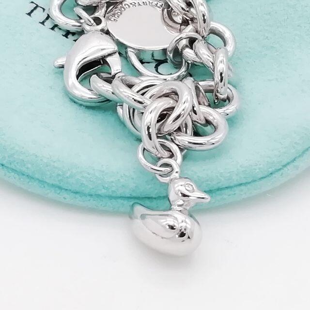 Tiffany & Co.(ティファニー)の希少 美品 ティファニー 4チャーム ドーナツ リンク ブレスレット XX18 レディースのアクセサリー(ブレスレット/バングル)の商品写真