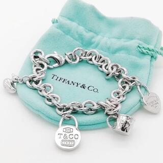 Tiffany & Co. - 希少 美品 ティファニー 4チャーム ドーナツ リンク ブレスレット XX18