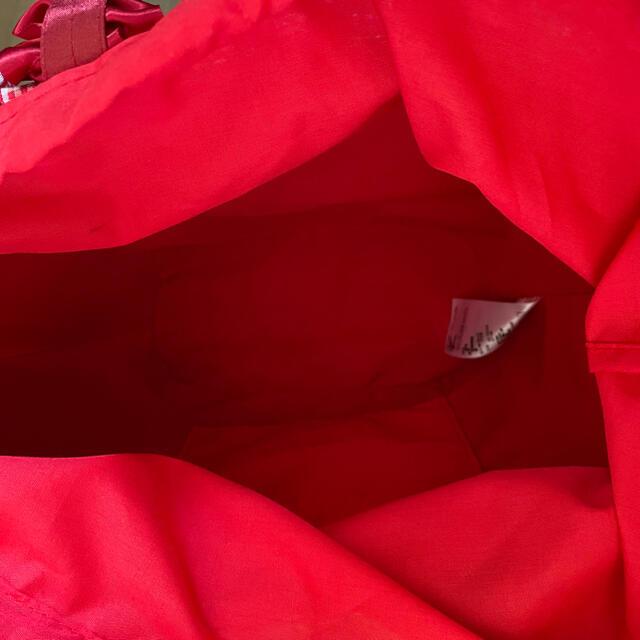 Maison de FLEUR(メゾンドフルール)のメゾンドフルール カゴバッグ リボン レディースのバッグ(かごバッグ/ストローバッグ)の商品写真