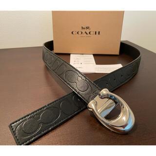 COACH - 正規品COACHシグネチャーリバーシブル/フリーサイズベルト専用ギフトbox付き