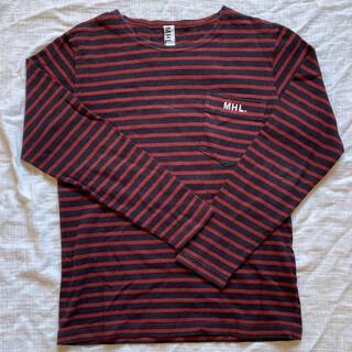 マーガレットハウエル(MARGARET HOWELL)のMHL ロンT ボーダー Mサイズ(Tシャツ/カットソー(七分/長袖))